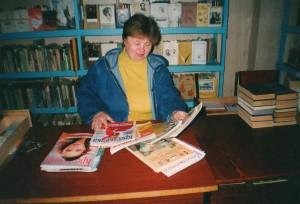 Библиотекарь филиала Елена Петровна Маркелова